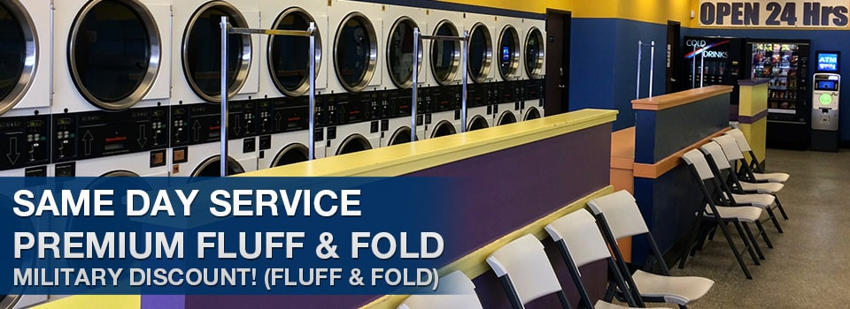 Same day service fluff and fold