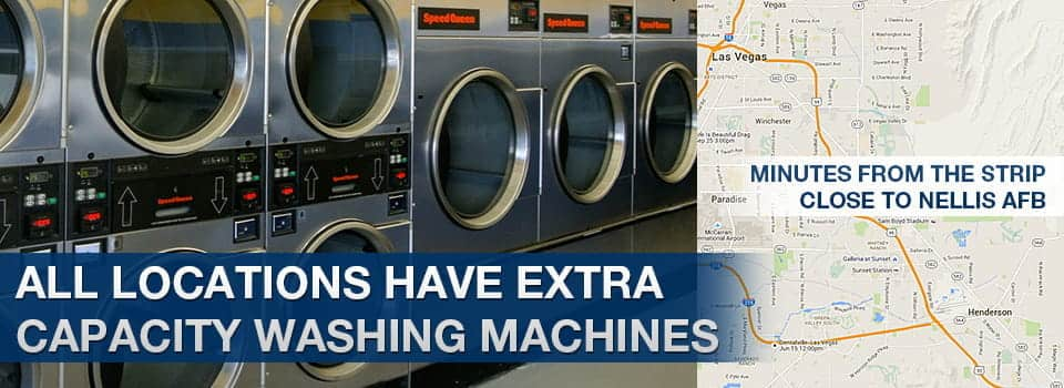 all locations have extra capacity washing machines